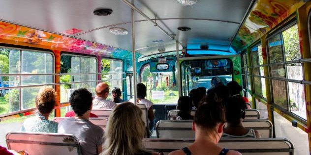 Travelling by bus in Mauritius
