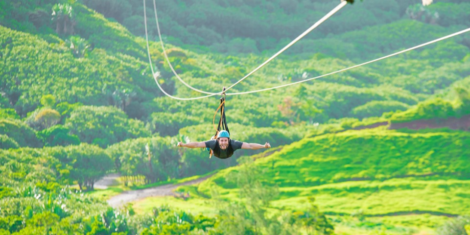 Nepalese Bridge & Zip Line Adventure at 'La Vallee des couleurs'