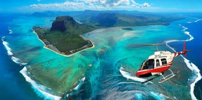 Underwater Waterfall-Helicopter Tour