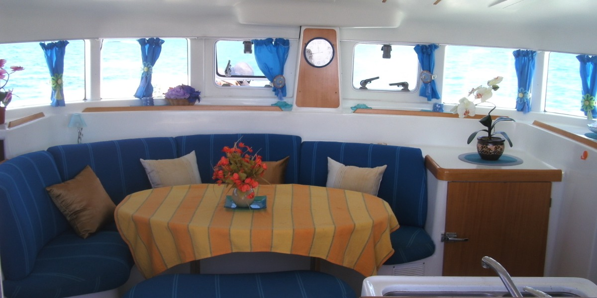 interior cabin setting