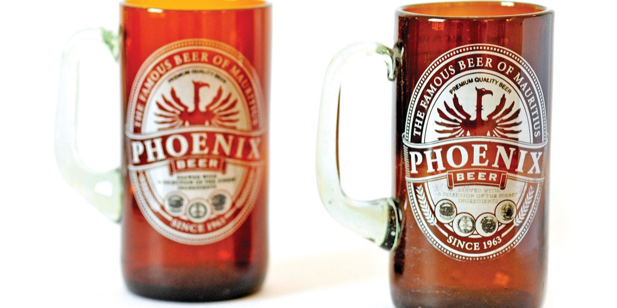 Phoenix glass made from a Phoenix bottle